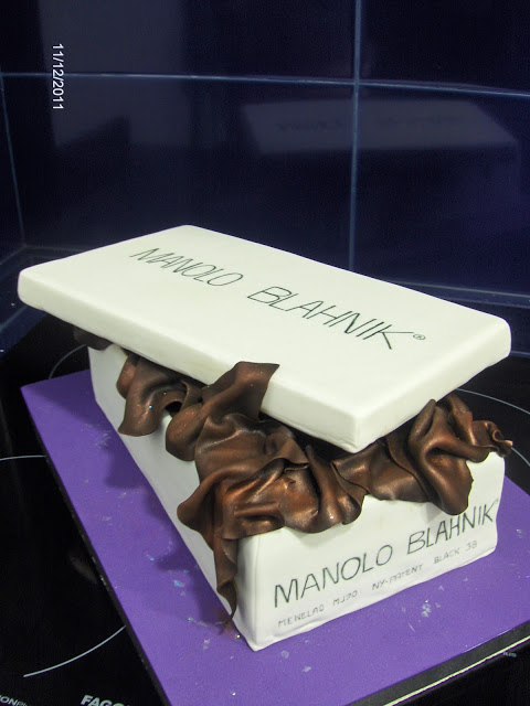 MANOLO BLAHNIK SHOE BOX…en tarta!!!!
