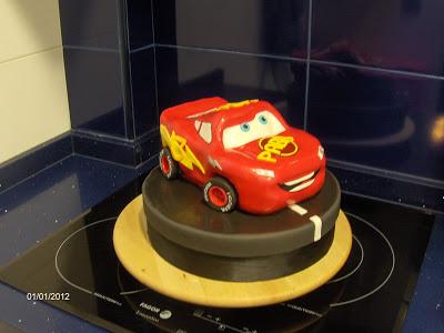 RAYO MCQUEEN CAKE!!!