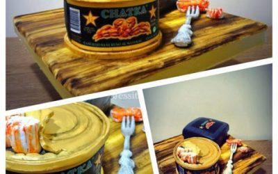 Jessitarta LATA CANGREJO CHATKA! Canned Crab Meat CHATKA Cake! LA TARTA VIAJERA!