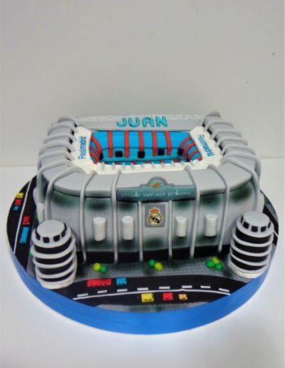 Tarta 3D Estadio Santiago Bernabeu