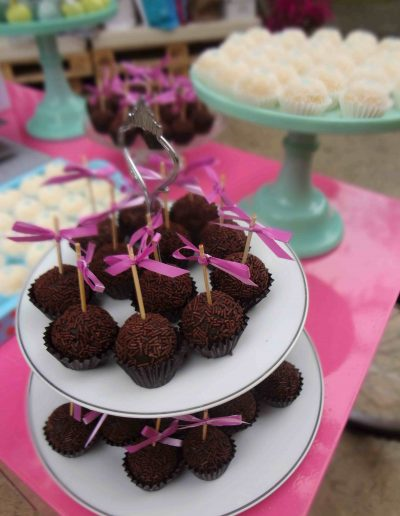 Detalle mesa dulce chocolate