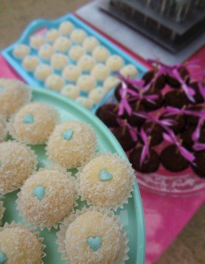 Detalle mesa dulce coco