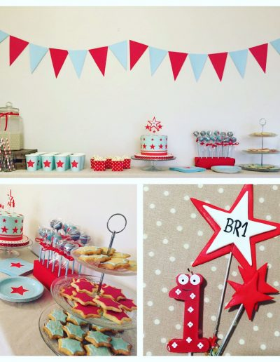 Mesa Dulce Baby shower estrellas collage