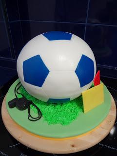 BALON DE FUTBOL CAKE! de chocolatísssimo!!!