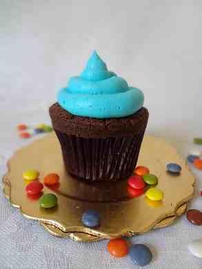 Cupcake azul fiesta infantil