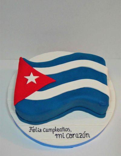 Tarta Bandera Cuba